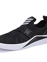Для мужчин обувь Ткань Весна Осень Удобная обувь Кеды Назначение Черный Черно-белый