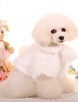 Dog Coat Dog Clothes Casual/Daily Princess Blushing Pink White