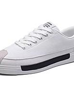 Da uomo Scarpe PU (Poliuretano) Primavera Autunno Suole leggere Sneakers Lacci Per Casual Bianco Nero Grigio
