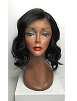 Women Human Hair Lace Wig Glueless Lace Front 130% Density Layered Haircut With Baby Hair Body Wave Wigs Brazilian Hair Black Medium