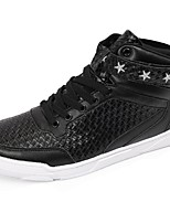 Men's Shoes PU Spring Fall Comfort Sneakers Lace-up For Casual Red Black White