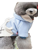Dog Hoodie Dog Clothes Casual/Daily Cartoon Blushing Pink Blue Red
