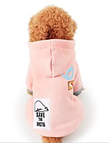 Cat Dog Coat Dog Clothes Casual/Daily Keep Warm Animal Dark Blue Pink