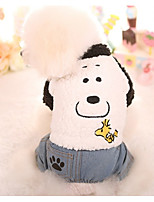 Dog Clothes/Jumpsuit Dog Clothes Casual/Daily Cartoon White