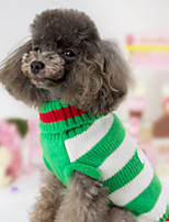Dog Sweater Dog Clothes Casual/Daily British Green Red