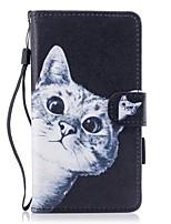 per custodia portacartelli portafoglio con stelo flip modello magnetico cassa pieno corpo gatto cuoio rigido pu per huawei huawei p10 lite