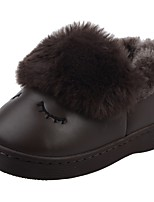 Boys' Shoes PU Winter Fur Lining Fluff Lining Comfort First Walkers Snow Boots Fashion Boots Slippers & Flip-Flops Pom-pom For Casual