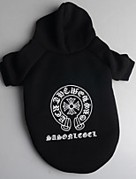 Dog Hoodie Dog Clothes Casual/Daily Letter & Number Black