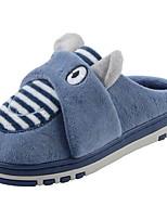 Boys' Shoes Velvet Winter Fur Lining Fluff Lining Slippers & Flip-Flops Pom-pom For Casual Navy Blue Brown Gray
