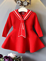 Girl's Casual/Daily Striped Dress,Rayon Fall Winter Long Sleeve