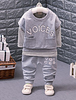 Girls' Stripe Solid Sets,Cotton Fall Winter Long Sleeve Clothing Set