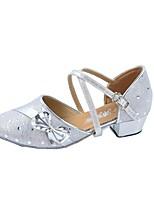 Damen Leder Absätze Innen Gepunktet Niedriger Heel Silber 2,5 - 4,5 cm 5 - 6,8 cm Maßfertigung