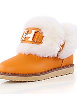 Femme Chaussures Polyuréthane Automne Hiver Confort Nouveauté Bottes de neige Bottes à la Mode Botillons Bottes Talon Plat Bout rond