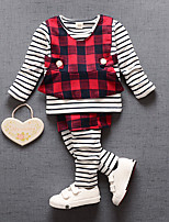Girls' Stripe Sets,Cotton Fall Long Sleeve Clothing Set