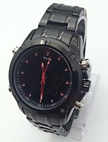 Per uomo Orologio sportivo Creativo unico orologio Orologio digitale Cinese Digitale Calendario allarme Cronometro Nottilucente Acciaio