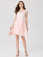 A-Linie Prinzessin Schmuck Kurz / Mini Spitze Organza Cocktailparty Kleid mit Applikationen durch TS Couture®
