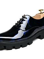 Masculino sapatos Couro Envernizado Outono Inverno Sapatos formais Oxfords Cadarço Para Casual Festas & Noite Preto