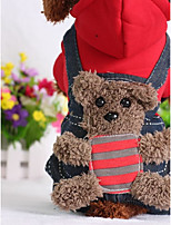 Dog Clothes/Jumpsuit Dog Clothes Casual/Daily Cartoon Red Yellow