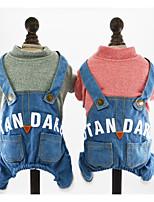 Chien Combinaison-pantalon Vêtements pour Chien Décontracté / Quotidien Lettre et chiffre Vert Rose