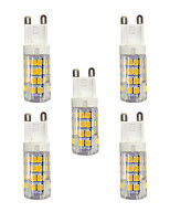 5 pcs 3W G9 LED Bi-pin Lights T 51 leds SMD 2835 Warm White White 240lm 3000-3500/6000-6500K AC 220-240V