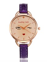 Women's Fashion Watch Wrist watch Unique Creative Watch Chinese Quartz PU Band Charm Casual Black White Blue Red Brown Gold Purple