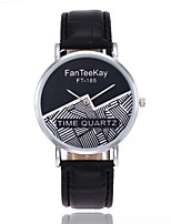 Men's Women's Fashion Watch Wrist watch Unique Creative Watch Chinese Quartz PU Band Casual Black White Brown