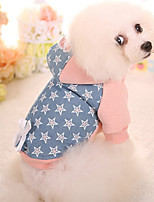 Dog Hoodie Dog Clothes Casual/Daily Stars Blushing Pink Green