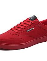 Da uomo Scarpe PU (Poliuretano) Autunno Inverno Comoda Sneakers Lacci Per Casual Nero Grigio Rosso