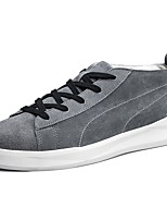 Men's Shoes PU Spring Fall Comfort Sneakers Lace-up For Casual Almond Gray Black
