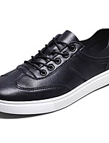 Men's Shoes PU Spring Fall Comfort Sneakers Lace-up For Casual Khaki Brown Black