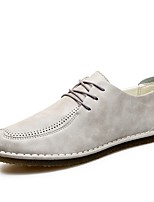 Masculino sapatos Couro Primavera Outono Conforto Oxfords Cadarço Para Casual Preto Laranja Cinzento