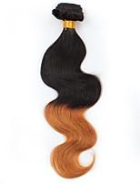 Vergini Brasiliano Ambra Ondulato naturale Extensions per capelli 1 Nero / Medium Auburn