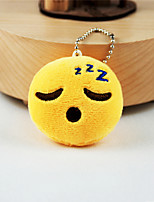 New Arrival Cute Emoji Fell Asleep Face Key Chain Plush Toy Gift Bag Pendant