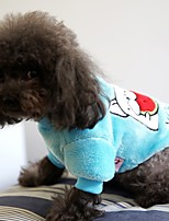 Dog Sweatshirt Dog Clothes Casual/Daily Cartoon Blushing Pink Blue