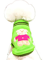 Dog Sweater Dog Clothes Casual/Daily Cartoon Yellow Red Green