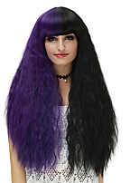 Donna Parrucche sintetiche Senza tappo Lungo Onda effetto mare Nero - viola Parrucca di Halloween costumi parrucche