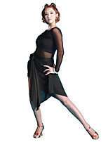 Latin Dance Tutus & Skirts Women's Performance Milk Fiber Ice Silk 1 Piece Dropped Skirts