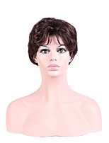 Women Synthetic Wig Capless Short Curly Brown Natural Hairline Layered Haircut Party Wig Cosplay Wig Natural Wigs Costume Wig