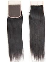 Top 7a reine brasilianische Haare 10-20 Top-Spitze Verschluss Stück gerade Größe 4x4 natürliche Farbe freien Teil Schließung