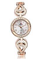 Per donna Orologio alla moda Creativo unico orologio Simulato Triangolo Orologio Cinese Quarzo Lega Banda Oro rosa