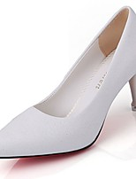 Women's Shoes Patent Leather Fall Comfort Heels Low Heel Pointed Toe For Outdoor Blushing Pink White