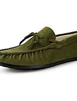 Men's Shoes Suede Spring Fall Driving Shoes Loafers & Slip-Ons Bowknot For Casual Blue Green Brown Yellow Gray