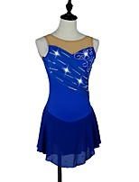 Women's Girls' Figure Skating Dress Ice Skating Dress Quick Dry Anatomic Design Stretchy Sleeveless Performance Dress High Elasticity