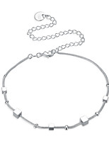 Women's Anklet/Bracelet Silver Plated Basic Square Jewelry For Party Casual