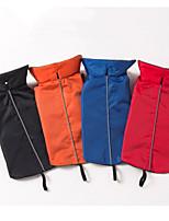 Dog Vest Dog Clothes Casual/Daily Solid Blue Red Orange Black