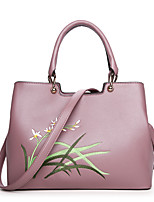 Women Bags All Seasons PU Tote Zipper for Casual Formal Black Blushing Pink Gray