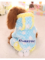 Dog Clothes/Jumpsuit Dog Clothes Casual/Daily Geometic Blushing Pink Blue Yellow