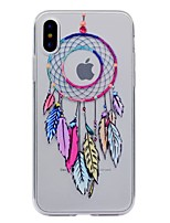 For iPhone X iPhone 8 iPhone 8 Plus Case Cover Transparent Pattern Back Cover Case Dream Catcher Soft TPU for Apple iPhone X iPhone 8