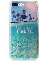 Недорогие -Кейс для Назначение Apple iPhone 7 IMD / С узором Кейс на заднюю панель Пейзаж Мягкий ТПУ для iPhone 7 Plus / iPhone 7 / iPhone 6s Plus