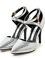 Для женщин Обувь Полиуретан Весна Осень Удобная обувь Оригинальная обувь Обувь на каблуках На шпильке Заостренный носок Пряжки Назначение